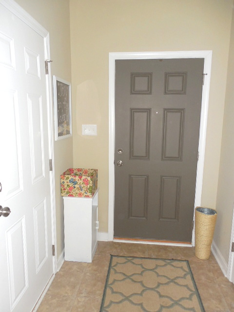 to paint the other doors next to the entryway the same color. Black Bedroom Furniture Sets. Home Design Ideas