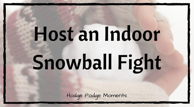 Host an Indoor Snowball Fight