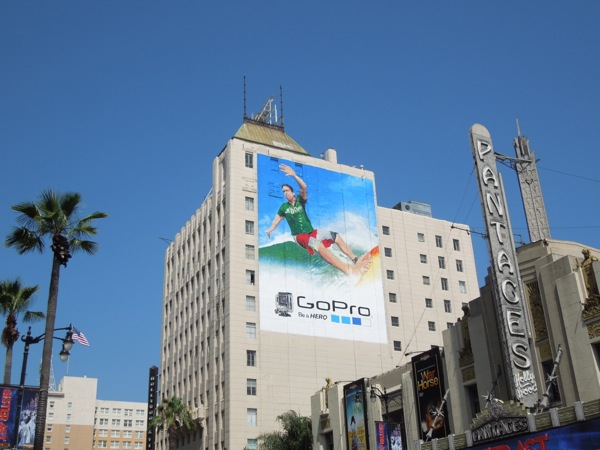 Giant GoPro surfer billboard Hollywood