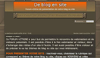 De blog en site, forum-vitrine