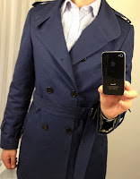 Indochino Blue Trenchcoat