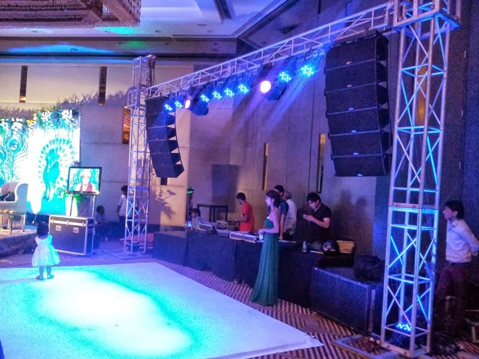 Dj Setup & aawaz sound u0026 light system: Truss Stage System