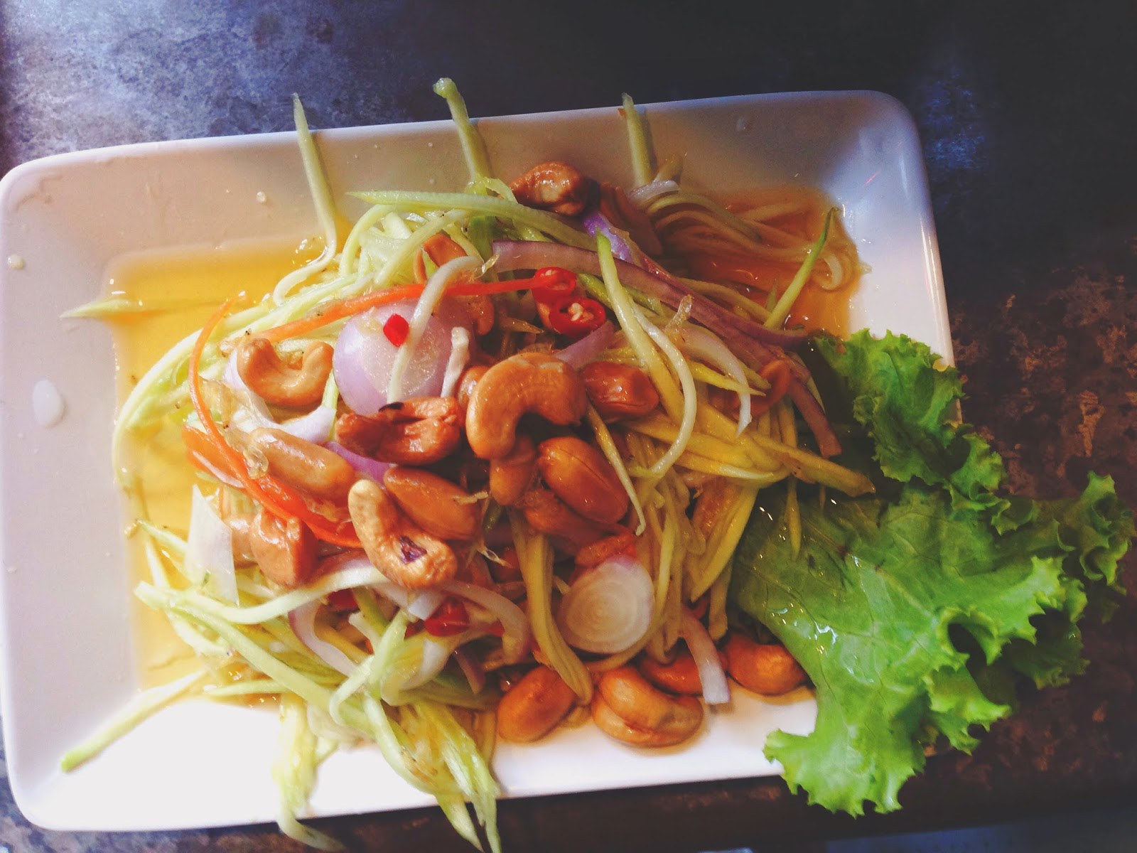 Tom Yum Kungfu Mookata Boat Quay Mango Salad