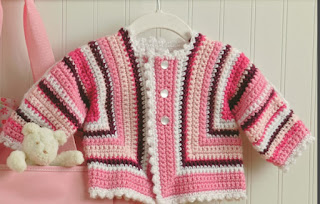 Crochet Picot Sweater for Babu