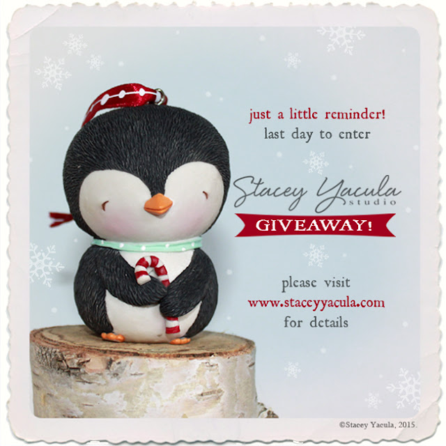 enesco, stacey yacula, christmas, giveaway, penguin christmas ornament