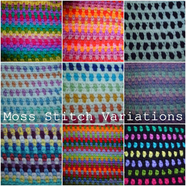 moss stitch variations above