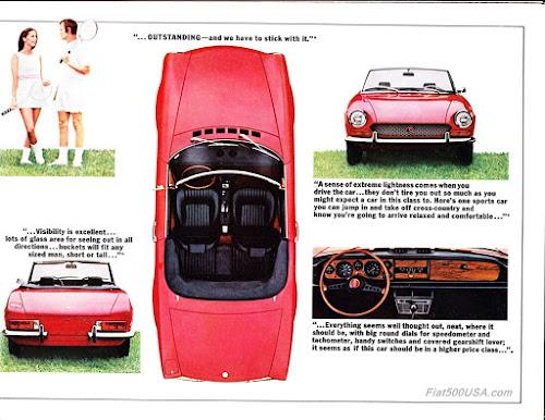 1971 Fiat 124 Spider Brochure