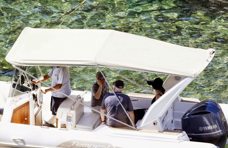 Angelina Jolie walks boat in Malta