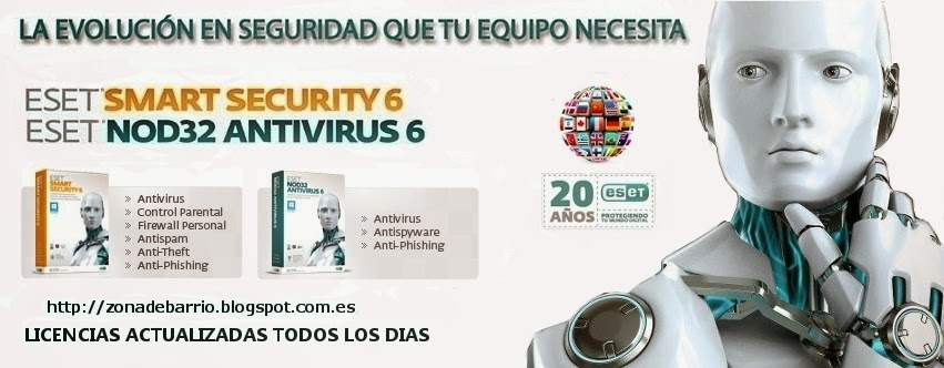 licencias nod32 2013 licencias nod32 y smart security actualizadas