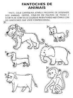 Atividades 1° ano - animais fantoches