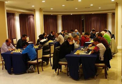 Sala de juego de la Penya d'Escacs del Casino Prado Suburense de Sitges