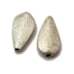 Silver Scratched Bead