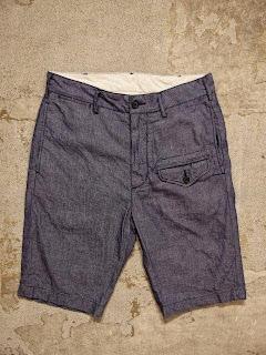 Engineered Garments Ghurka Short in Blue Dungaree Cloth Spring/Summer 2015 SUNRISE MARKET