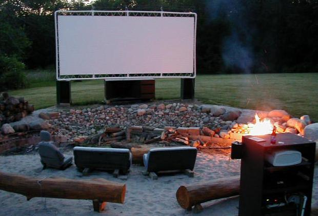 free plans for outdoor movie screen made out of pvc made by jon martin