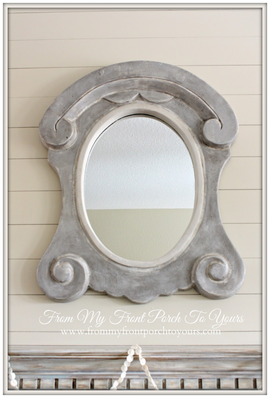 From my front porch to yours updated fireplace mirror for Mirror of equity