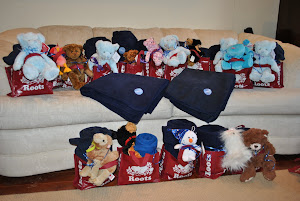 Blankets and teddies headed to Women&#39;s Habitat!