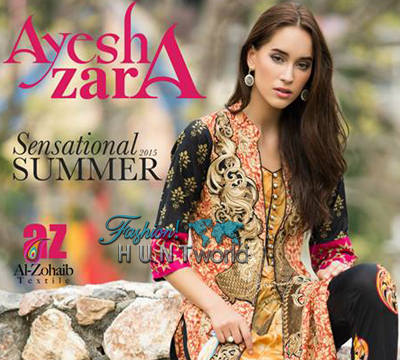Al-Zohaib Textile - Ayesha Zara Spring Summer 2015 Collection