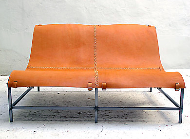 Image Credit: Casamidy. (top) Montelargo Chaise; (bottom) Montelargo Bench.  Both Are Made With A Wrought Iron Frame And Saddle Leather In Tan, ...