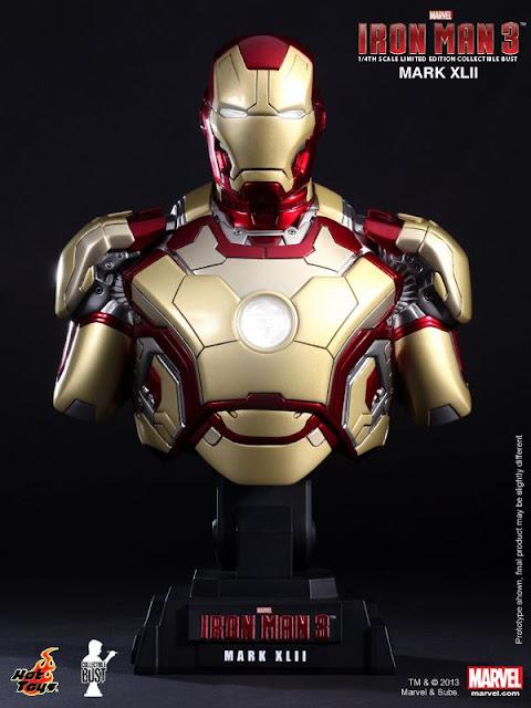 Hot Toys Iron Man 3 - Iron Man Mk XKII (42) Bust