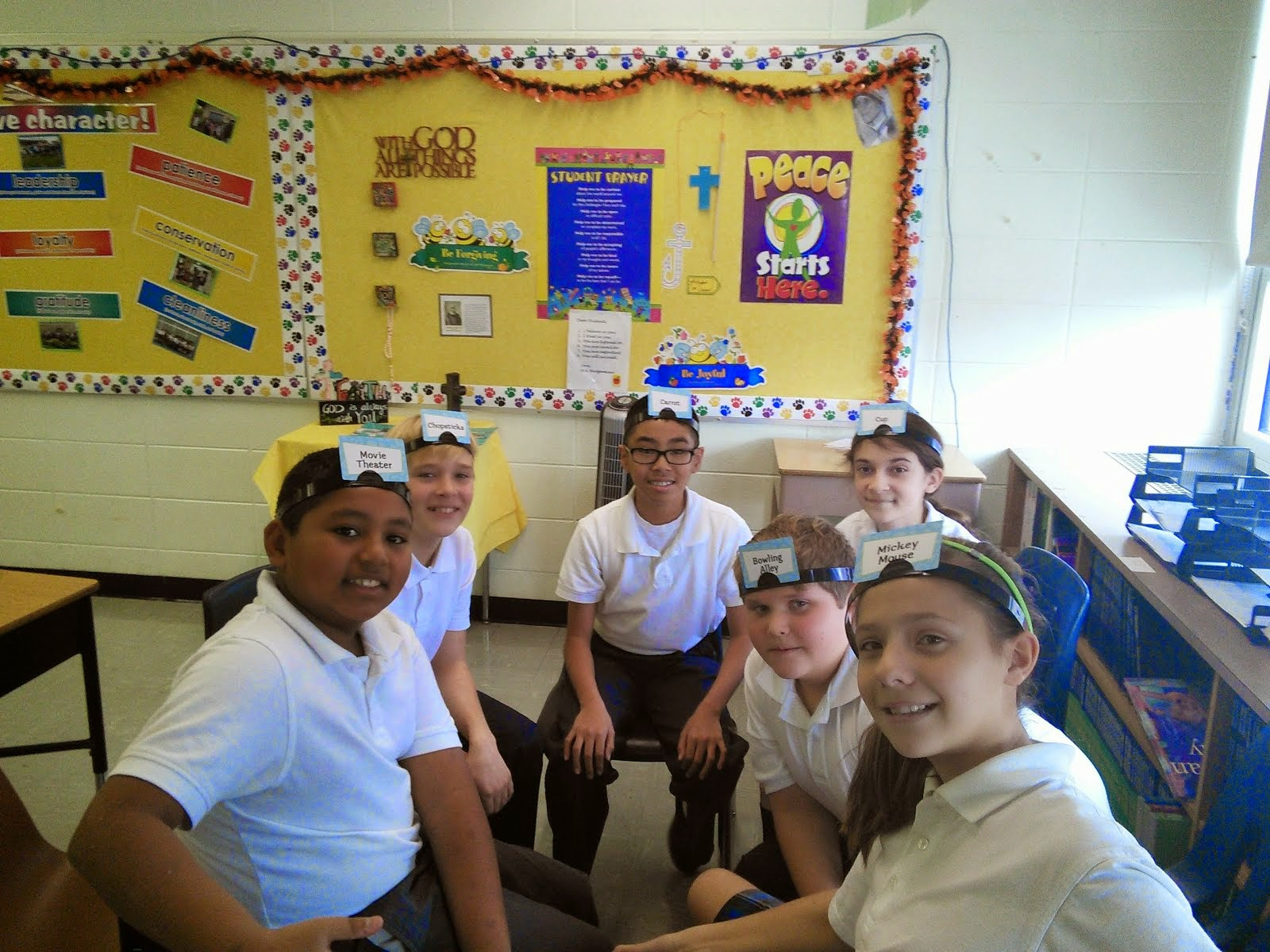 6th Grade-Team Building-Hedbanz