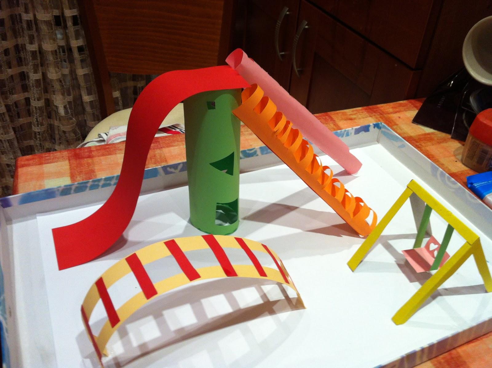 Как сделать макет детской площадки из бумаги своими руками