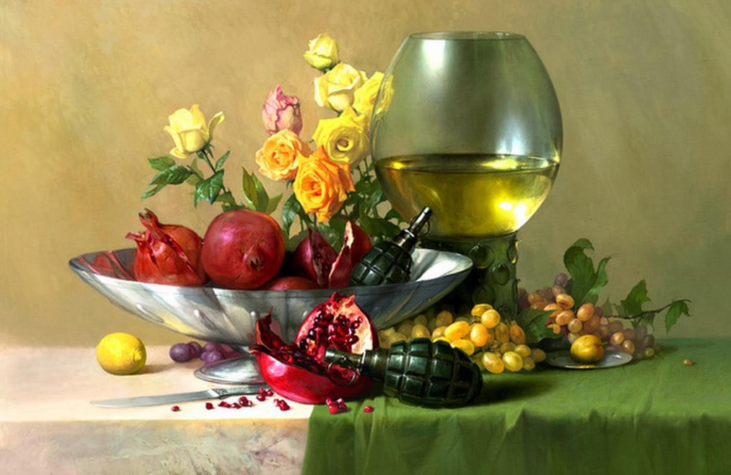 Cuadros modernos pinturas y dibujos bodegones modernos for Cuadros al oleo modernos para comedor