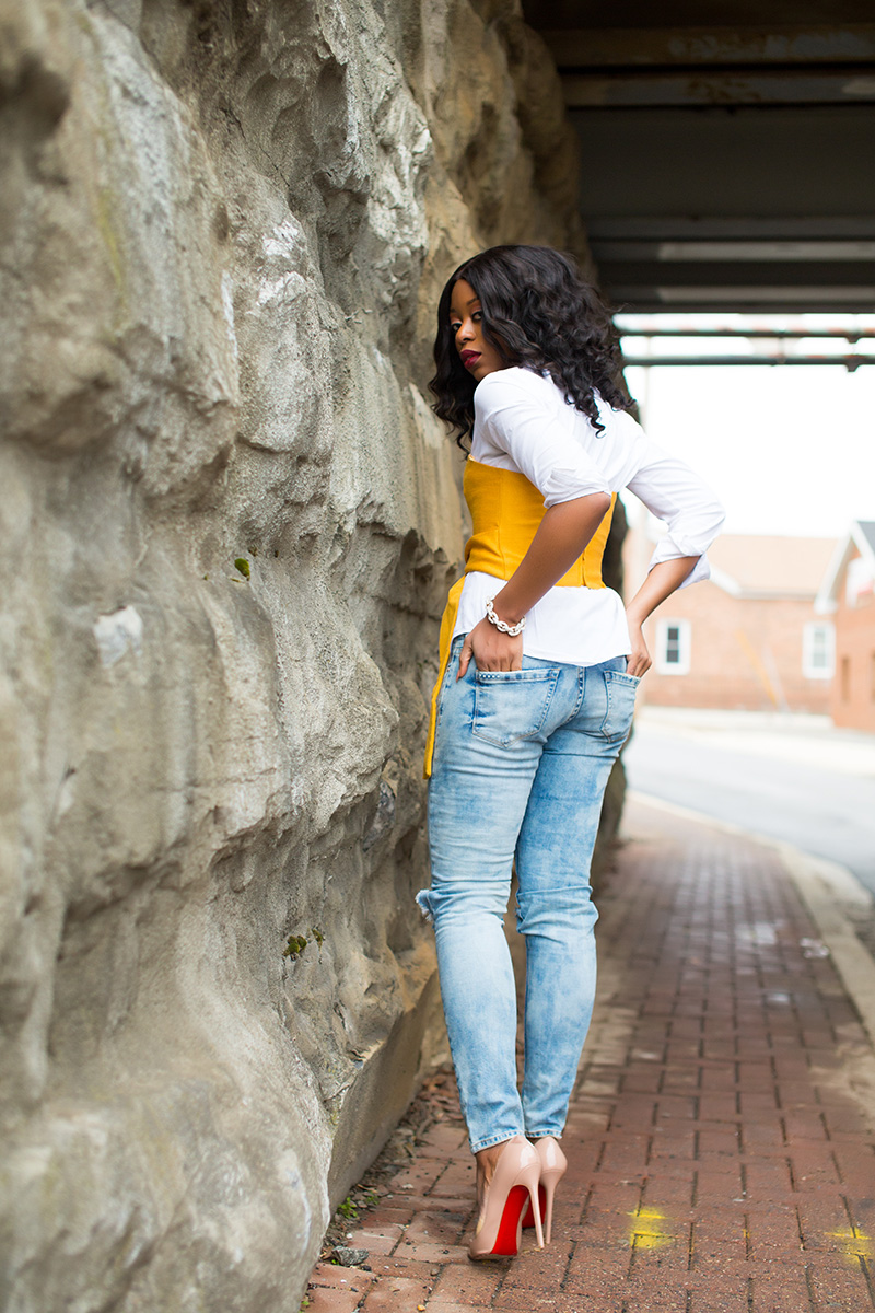 cropped top, boyfriend jeans, www.jadore-fashion.com