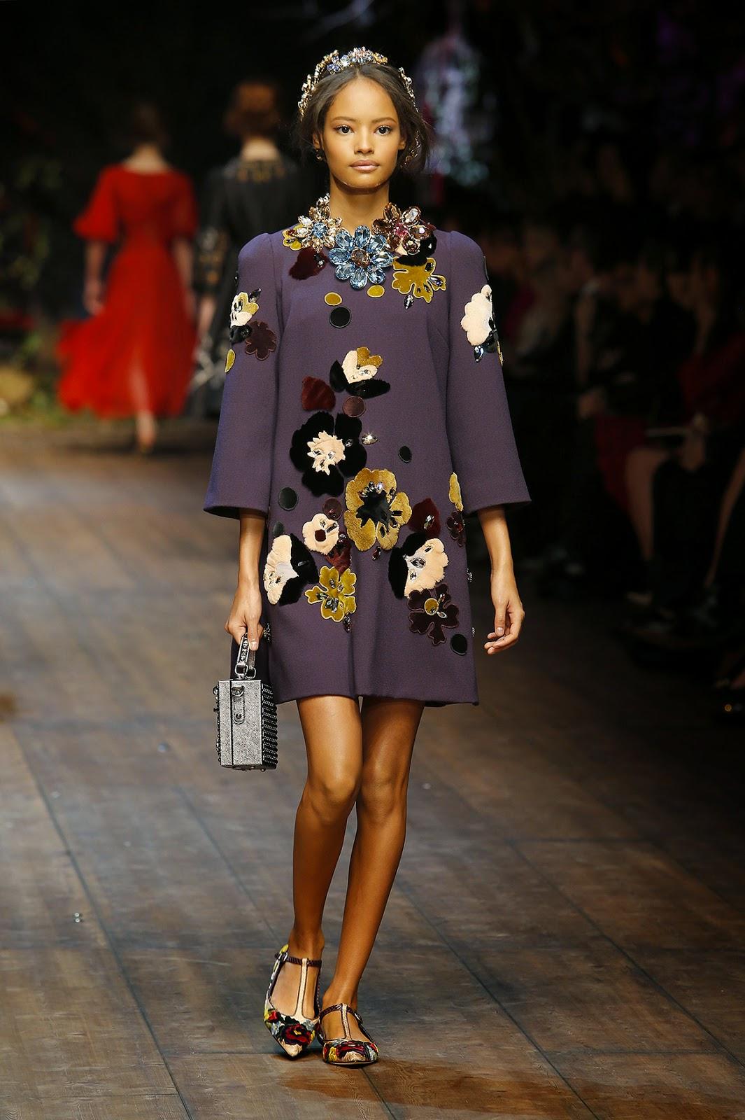 Dolce&Gabbana colecção outono inverno 2014-2015  árvores