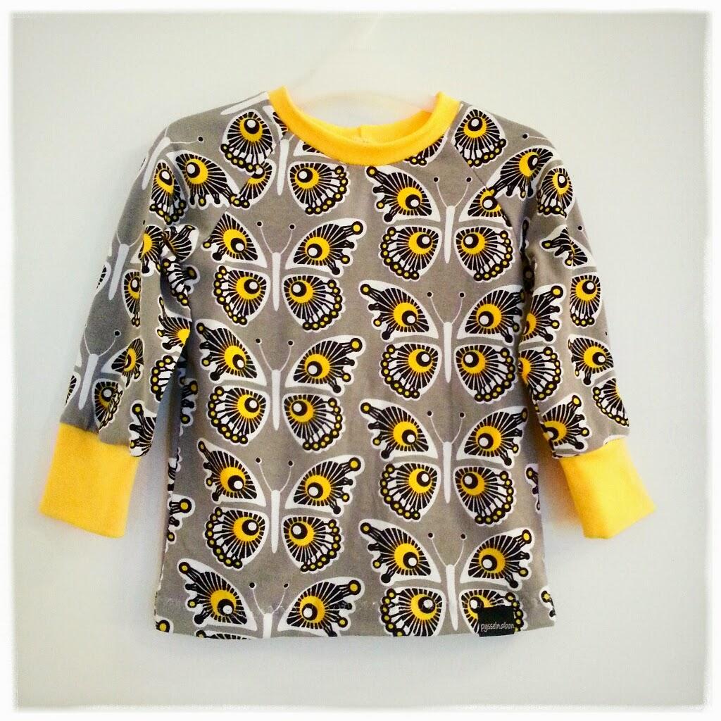 finska fjärilar barnkläder jersey