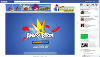 Game Angry Birds on Facebook