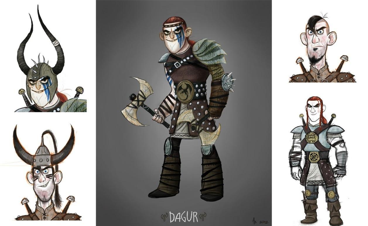 Andy Bialk character designs ~ Berk's Grapevine
