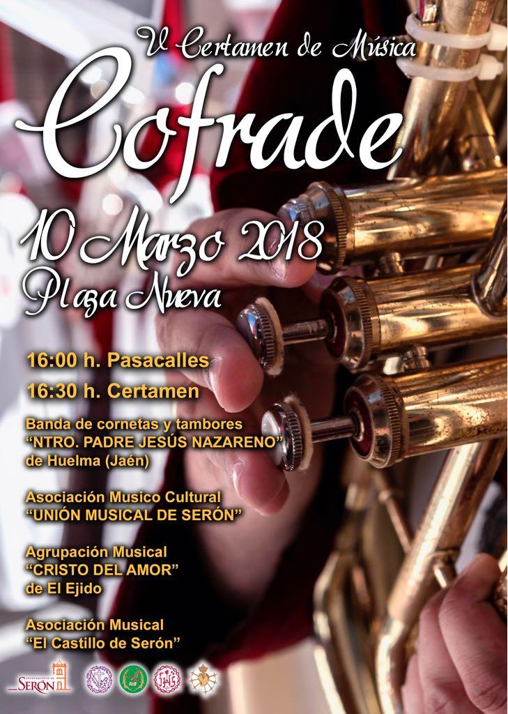 SÁBADO 10 DE MARZO.V CERTAMEN MÚSICA COFRADE DE SERÓN 2018