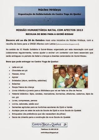 MISSÃO HUMANITÁRIA NATAL COM AFECTOS 2013