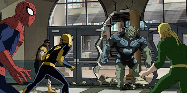 'Next time on Fame: Green Goblin invades the school and challenges Leroy to a dancing contest.'