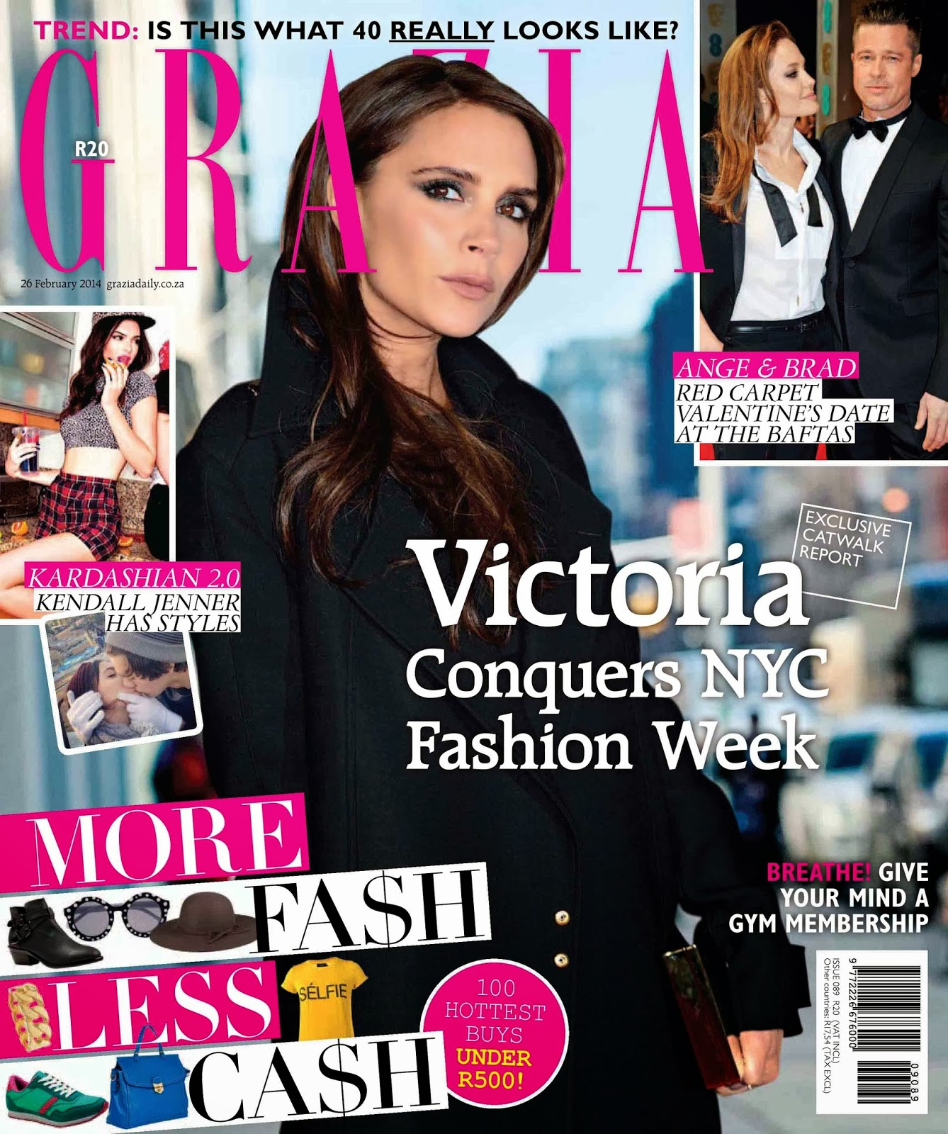 Victoria Beckham Photos from Grazia South Africa Magazine Cover February 2014 HQ Scans