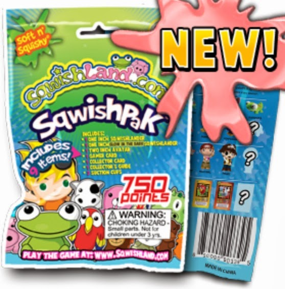 Sqwishpak squishies package with rare squishies