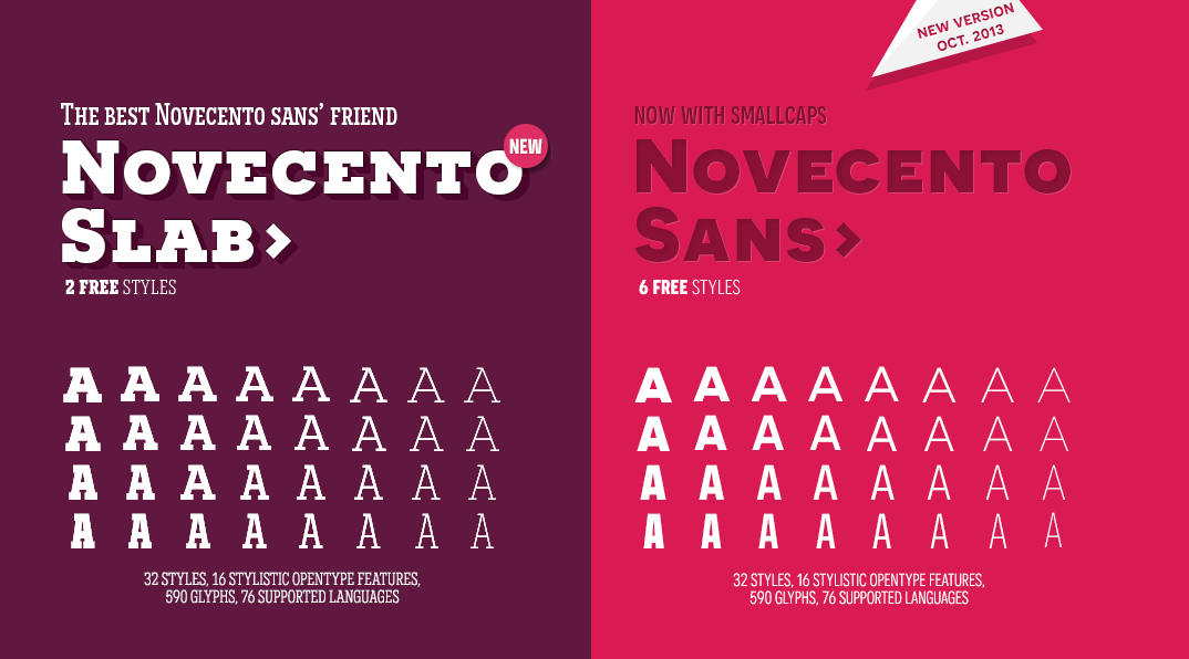 Free Font Weights - Novecento