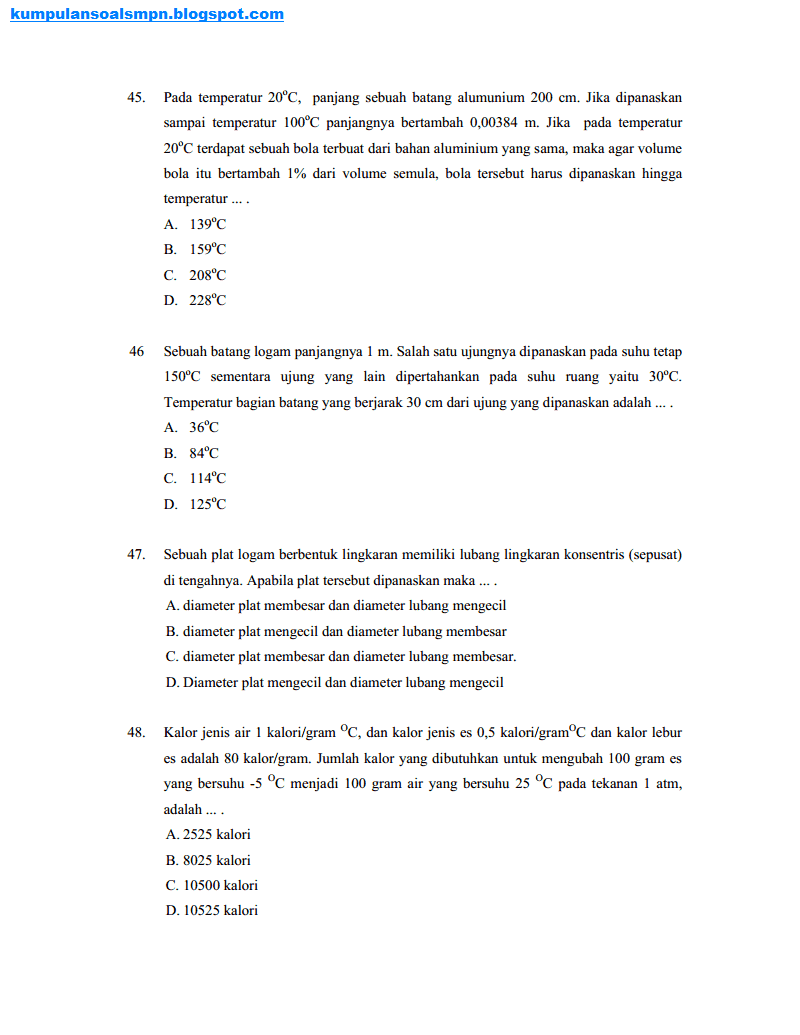 Kumpulan Soal Osn Smp Tingkat Kabupaten Ta 2010 2011 Kumpulan Soal Dan Prediksi Ujian Nasional