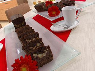 Torta de chocolate y peras