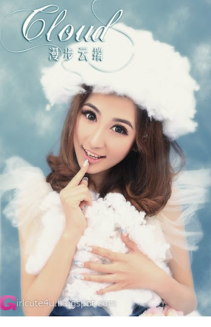 1 Fan Xuyue - Walk through the clouds-very cute asian girl-girlcute4u.blogspot.com