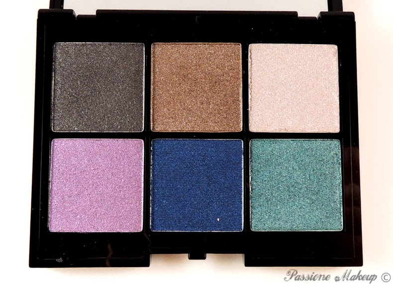Kiko Colour Impact Eyeshadow Palette Rain Smoky Shades