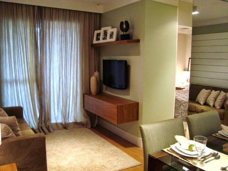 Duas pequenas salas integradas estar e jantar jeito for Salas pequenas para casas pequenas