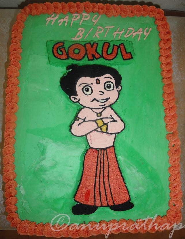 Anu Prathap s Kitchen: Chhota Bheem Cake