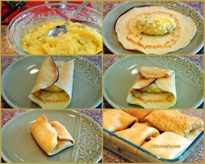 How to fill the potato blintzes, extra tips.