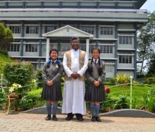 Father VC Jose with Don Bosco School (Mirik) toppers