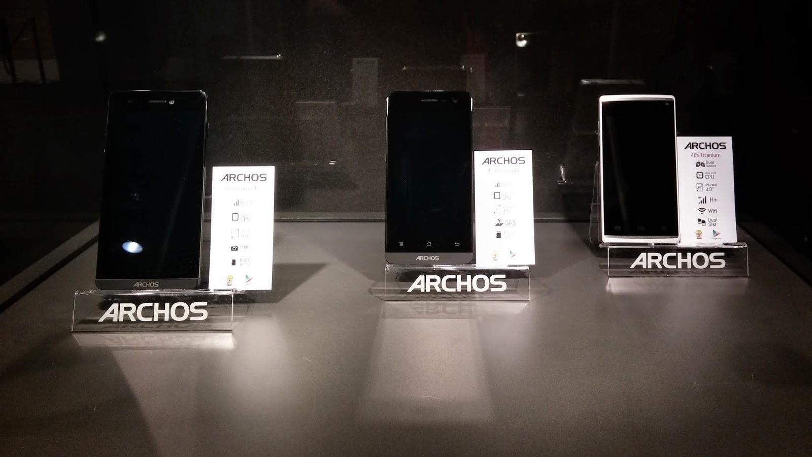 Los 3 Smartphones de la marca Archos.
