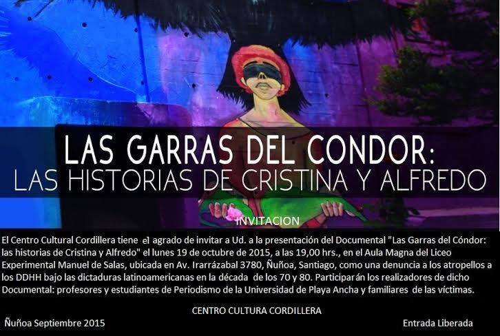 """""""Las Garras del Cóndor: Las historias de Cristina y Alfredo"""","""