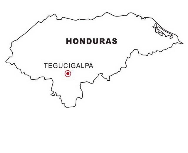 Etiquetas  Bandera De Honduras Para Dibujar Pintar Colorear Imprimir