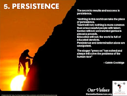 Our Values (5) Persistence