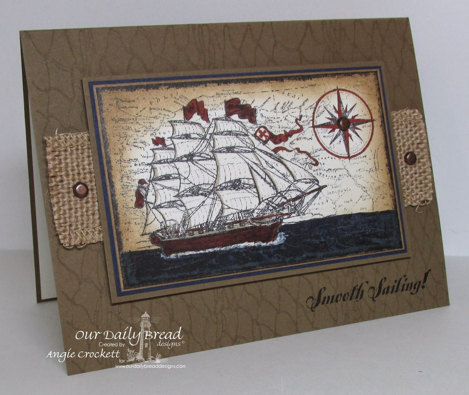ODBD Surging Sea, ODBD Smooth Sailing, ODBD Fishing Net Background, Card Designer Angie Crockett
